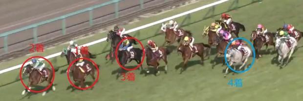 阪神牝馬S2015直線